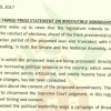 KURA YANGU SAUTI YANGU PRESS STATEMENT ON IRREDUCIBLE MINIMUMS
